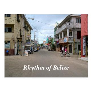 Ritmo de la postal de la ciudad de Belice San Pedr
