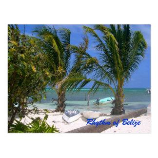 Ritmo de la postal de la playa de Belice