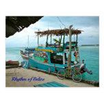 Ritmo de la postal del barco de Belice Rasta