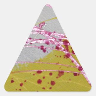 Ritmo del diseño enrrollado único de la noche A Pegatina Triangular