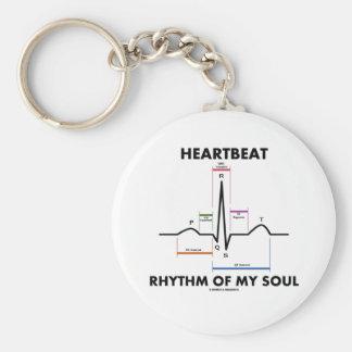 Ritmo del latido del corazón de mi alma (ECG/EKG) Llavero Redondo Tipo Pin
