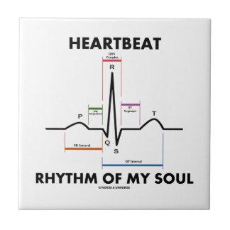 Ritmo del latido del corazón de mi alma (electroca azulejo cerámica