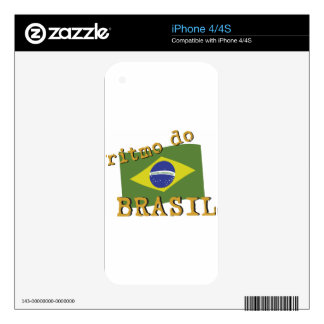 Ritmo do Brasil Decal For The iPhone 4