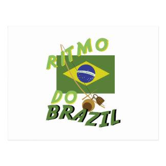 Ritmo do Brazil Postcard