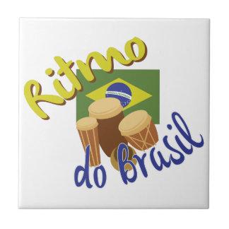 Ritmo hace el Brasil Azulejo Cuadrado Pequeño
