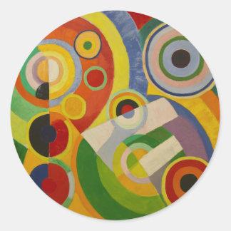 Ritmo Joie de vivre de Roberto Delaunay 1930 Etiquetas Redondas