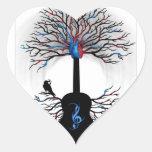 Ritmos del corazón - (arte surrealista de la guita colcomanias corazon personalizadas