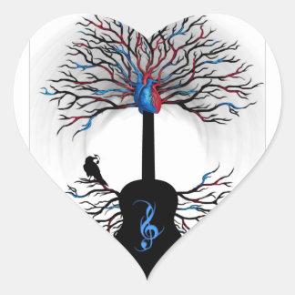 Ritmos del corazón - arte surrealista de la guita colcomanias corazon personalizadas