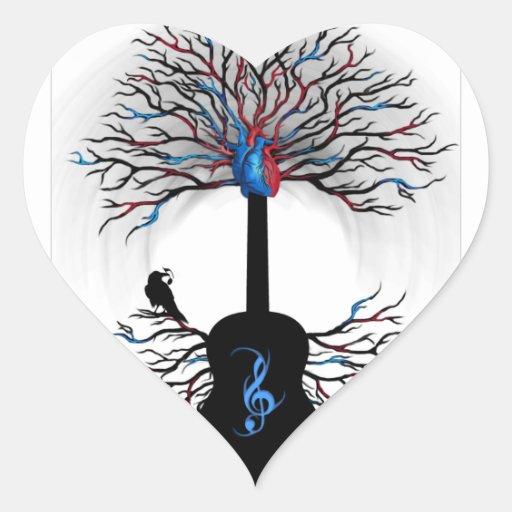 Ritmos del corazón - (arte surrealista de la calcomanías de corazones personalizadas