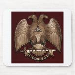 Rito escocés rojo de Eagle del doble del albañil d Tapete De Raton