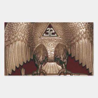 Rito escocés rojo de Eagle del doble del albañil Rectangular Altavoz
