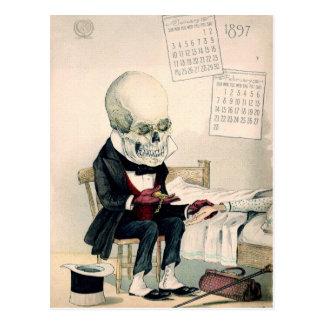Ritos pasados esqueléticos tarjeta postal