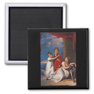 Ritratto dei Ragazzi Fluyder_Groups and Figures 2 Inch Square Magnet