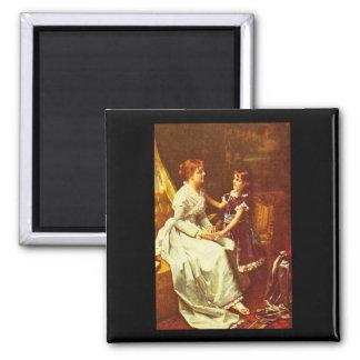 Ritratto di Donna', Sir Peter_Dutch Masters 2 Inch Square Magnet