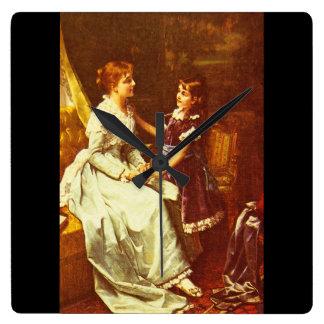 Ritratto di Donna', Sir Peter_Dutch Masters Square Wall Clock