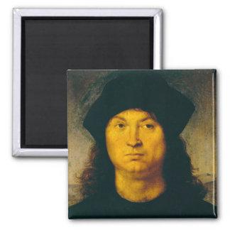 Ritratto di uomo 1 2 inch square magnet