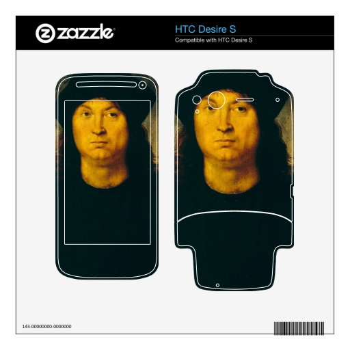 ritratto di uomo 1 de Raffaello Sanzio DA Urbino Calcomanía Para HTC Desire S