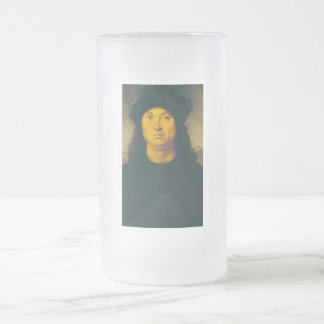 Ritratto di uomo 1 frosted glass beer mug
