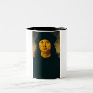 Ritratto di uomo 1 Two-Tone coffee mug