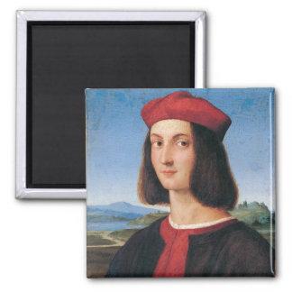 Ritratto di uomo 2 2 inch square magnet