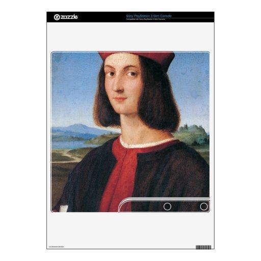 ritratto di uomo 2 by Raffaello Sanzio da Urbino PS3 Slim Console Skin
