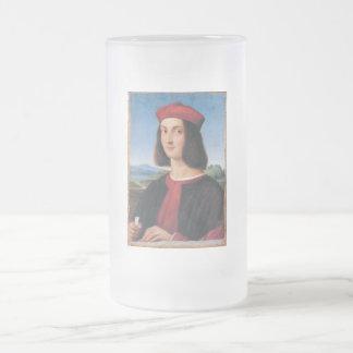 Ritratto di uomo 2 frosted glass beer mug