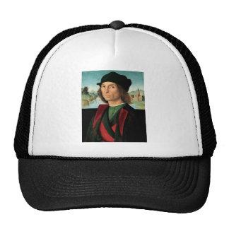 ritratto di uomo by Raffaello Sanzio da Urbino Trucker Hat