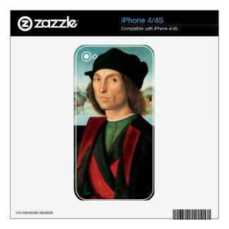 ritratto di uomo by Raffaello Sanzio da Urbino iPhone 4S Decal