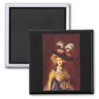 Ritratto', Thomas Gainsborough_Portraits 2 Inch Square Magnet