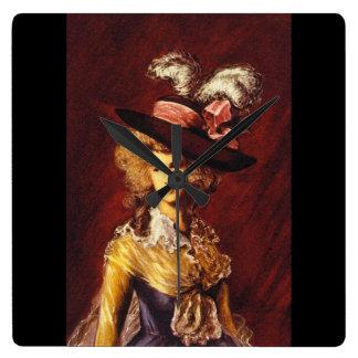 Ritratto', Thomas Gainsborough_Portraits Square Wall Clock