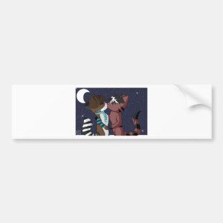 Ritsuka x Arex- I'll Love You Under the Moon Car Bumper Sticker