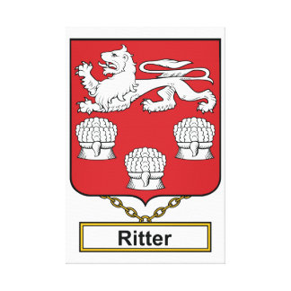 Ritter Family Crest Canvas Print