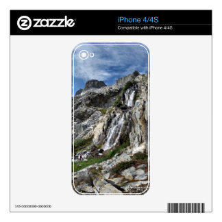 Ritter Pass Waterfall - Ansel Adams Wilderness Skins For The iPhone 4