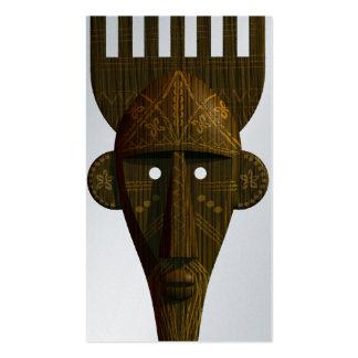 Ritual African Mask Double-Sided Standard Business Cards (Pack Of 100)
