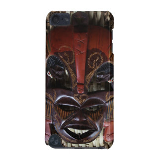 Ritual African Tribal Wooden Carved Mask Brown Red iPod Touch (5th Generation) Case