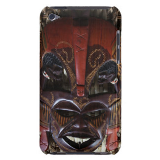 Ritual African Tribal Wooden Carved Mask Brown Red iPod Touch Case