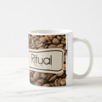 """ritual de la mañana"" taza blanca clásica de 11"