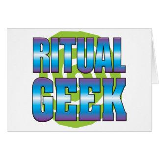 Ritual Geek v3 Greeting Card