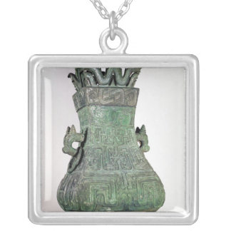 Ritual 'Hu' vase, Chou Dynast Silver Plated Necklace