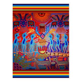 Ritual Huichol del Shaman Postal