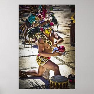 Ritual maya de la costa impresiones