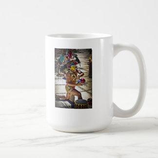 Ritual maya de la costa taza básica blanca