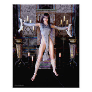 Ritual Of The Moon Goddess Gothic Fantasy Poster