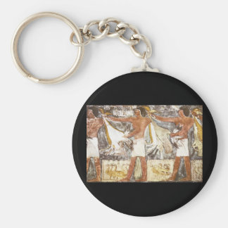 Ritual Offering of Geese_Art of Antiquity Basic Round Button Keychain