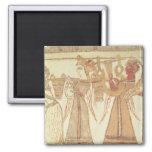 Ritual scene of worship 2 inch square magnet