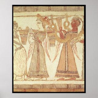 Ritual scene of worship poster