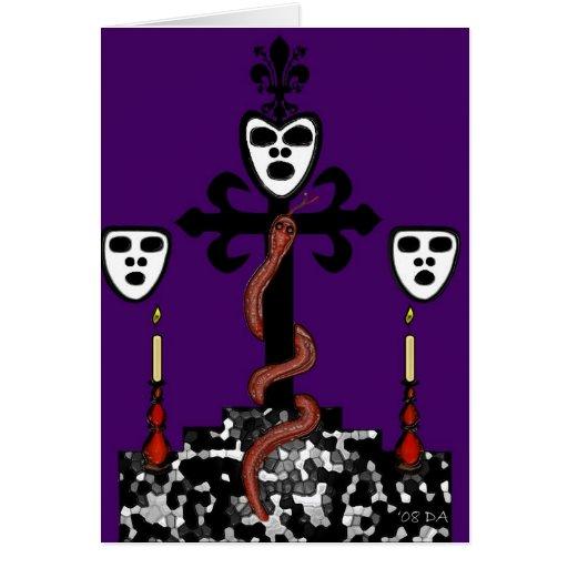 Ritual Symbol de barón Samedi Tarjeta De Felicitación