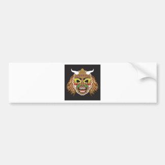 Ritualistic Tribal Mask Vector Bumper Sticker