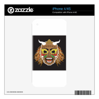 Ritualistic Tribal Mask Vector iPhone 4S Decals