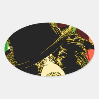 Ritz Dog Oval Sticker